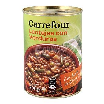 Carrefour Lentejas con verduras con aceite de oliva 400 g