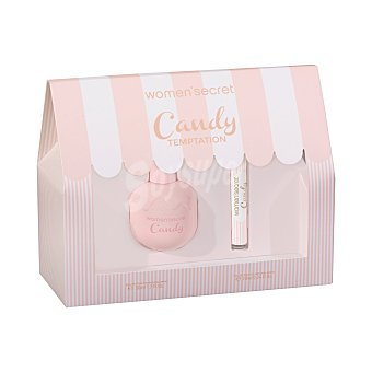 Women Secret Lote mujer candy temptation eau toilette + vial (roll on 10 ml) Vaporizador 50 ml