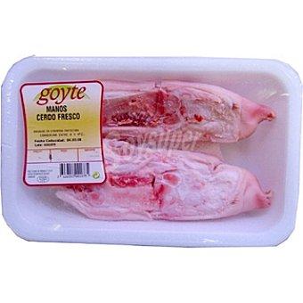GOYTE Manos de cerdo frescas peso aproximado Bandeja 450 g