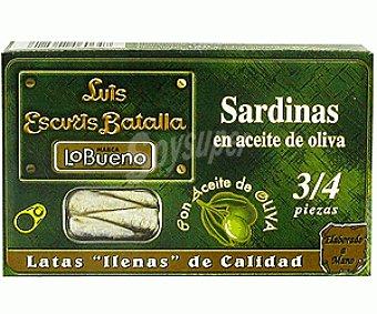 Lobueno Sardinas en Aceite de Oliva 3/4 84 Gramos