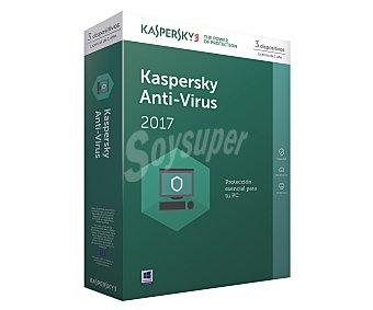 Kaspersky antivirus Antivirus KASPERSKY para 3 usuarios, 2017 3PC