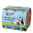 Yogur semidesnatado líquido con zumo de frutas Pack de 6 unidades de 100 g Carrefour Kids