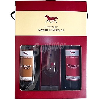 ARANDA Cream y Alburejo oloroso Estuche 2 botellas 75 cl + copa cata vinos Estuche 2 botellas 75 cl