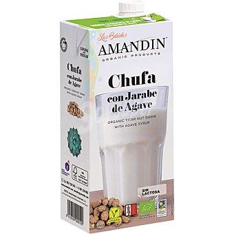 Amandin Bebida de chufa con jarabe de agave ecológica envase 1 l