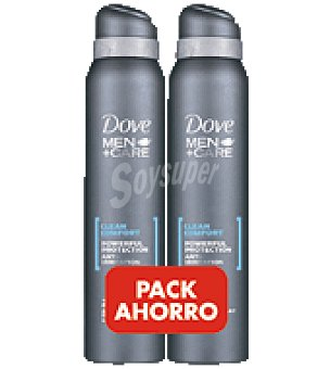 Dove Desodorante spray clean Pack de 2x200 ml