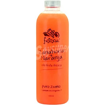 Be fresh Zumo de naranja y zanahoria natural botella 1 l 1 l