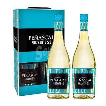 Peñascal Estuche de vino Frizzante 5.5 verdejo pack 2x75 cl