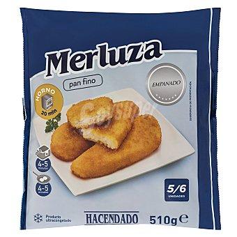 Hacendado Merluza congelada filete empanado (5/7 piezas) Paquete 510 g