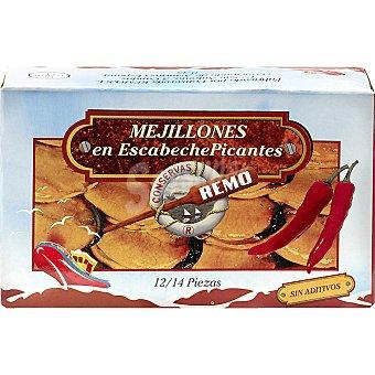 Remo Mejillones en escabeche picantes 12-14 piezas Lata 115 g