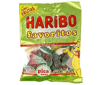 Haribo Surtido de caramelos de goma con zumo de frutas y pica pica 150 gramos