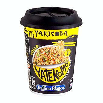 Gallina Blanca Fideos orientales yakisoba pollo Vaso 93 gr