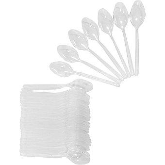 Casactual Mini cuchara transparente de aperitivo 10 cm paquete 50 unidades 10 paquete 50 unidades