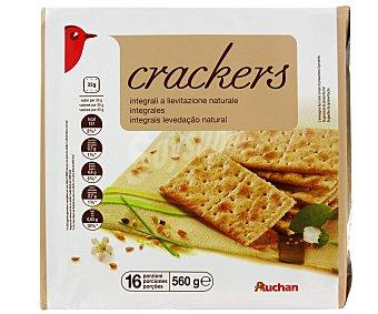 Auchan Crackers Integrales 560 Gramos