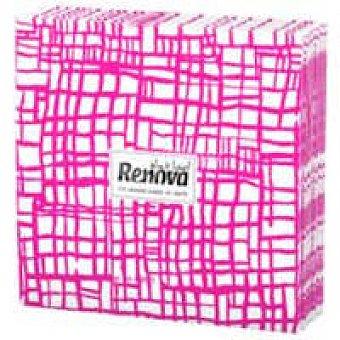 Renova Servilleta abstract fucsia Paquete 20 unid
