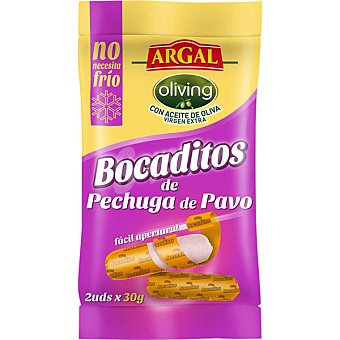 Argal Pechuga de pavo en porciones Bocaditos 2 unidades de 50 g