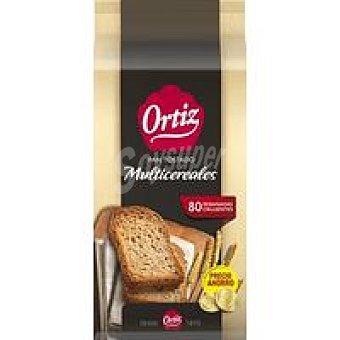 Ortiz Pan tostado multicereal Paquete 640 g