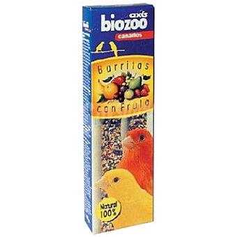 BIOZOO AXIS Barritas de frutas para canarios Envase 2 unidades