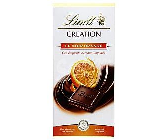 Lindt Tableta Creation Chocolate negro relleno de naranja confitada Tableta 150 g