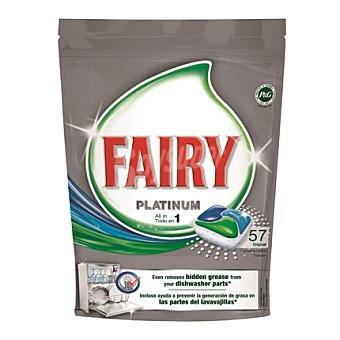 Fairy Lavavajillas máquina platinum todo en uno en pastillas 57 ud