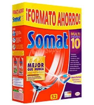 Somat Lavavajillas maquina 10 en pastillas 52 ud