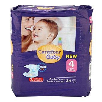 Carrefour Baby Pañal T4 de 7 a 18 kg. Maxi 34 ud
