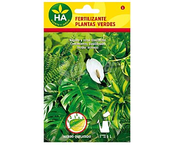 HA-Huerto y Jardín Sobre de 20 gramos de fertilizante soluble para plantas verdes jardín