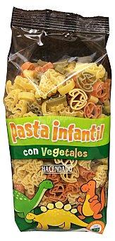 Hacendado Pasta infantil con vegetales Paquete 250 g