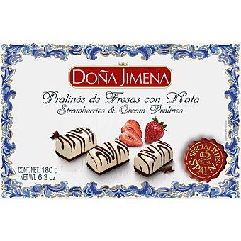 Doña Jimena Pralinés de fresas con nata Estuche 180 g