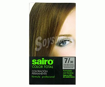 COLOR TOTAL de SAIRO Tinte Rubio Medio 7/30 1u