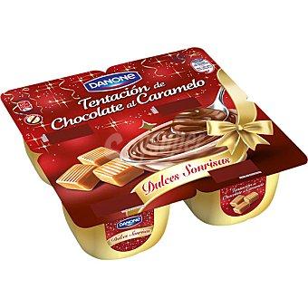 Danone Tentación de chocolate al caramelo Pack 4 unidades x 115 g