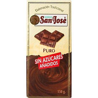 Horno San José Chocolate puro sin azúcar tableta 150 g tableta 150 g