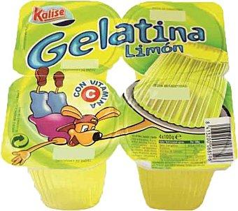 Kalise Gelatina limón Pack de 4x100 g