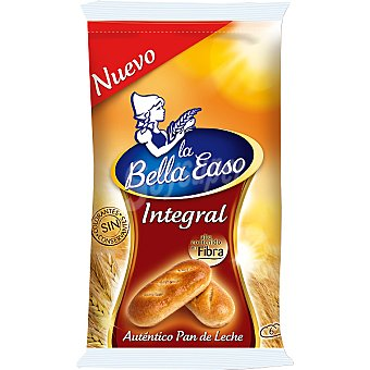 La Bella Easo pan de leche integral con alto contenido en fibra bolsa 210 g 6 unidades