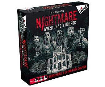 Diset Juego de mesa de investigación Bienvenidos a la Mansión Crafton, Nightmare aventuras de horror, de 4 a 5 jugadroes, diset.