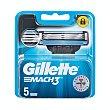 Recambio de maquinilla de afeitar Blister 5 unidades Gillette Mach3