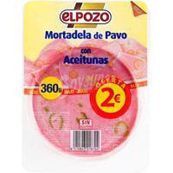 ElPozo Mortadela de pavo con aceiturnas Bandeja 360 g