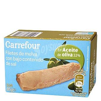 Carrefour Filetes de melva en aceite de oliva bajo en sal 85 g