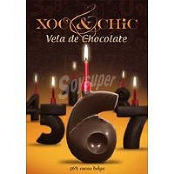 Xoc & Chic Vela de chocolate Nº 6 Pack 1 unid
