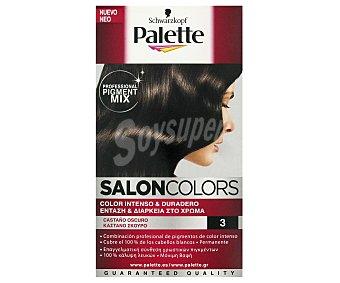 Palette Schwarzkopf Tinte Castaño Oscuro 3 Salon Colors 1 Unidad