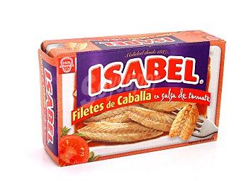 Isabel Filetes de caballa en salsa de tomate Lata 81 g (neto escurrido)