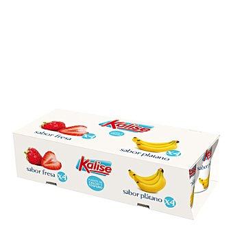 Kalise Yogur fresa plátano Pack 8x125 g
