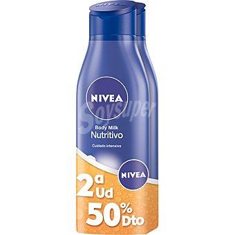 NIVEA Loción corporal nutritiva cuidado intensivo para piel seca 2 frascos de 400 ml