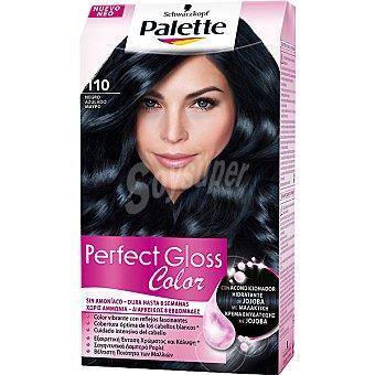 Palette Schwarzkopf Tinte Perfect Gloss Color nº 110 negro azulado con acondicionador de jojoba sin amoniaco caja 1 unidad Caja 1 unidad