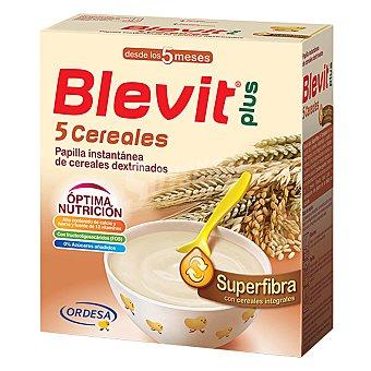 Blevit Papilla infantil desde 5 meses 5 cereales Blevit plus Superfibra 600 g