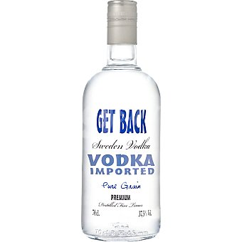 GET BACK Sweden Vodka premium importación Botella 70 cl