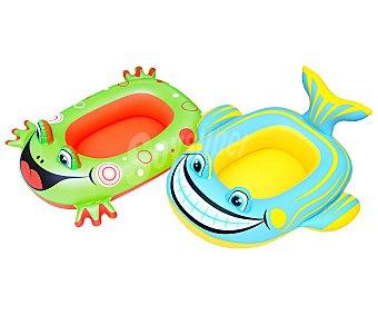 SNC Barca hinchable infantil que simulan divertidos animales acuáticos, medidas: 71x56 centímetros 1 unidad