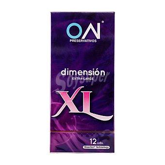 ON Preservativo XL (Dimensión extra-large) Paquete de 12 unidades