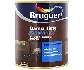 BRUGUER Barniz para Muebles, Tinte Color Castaño, Acabado Brillante 0,75 Litros