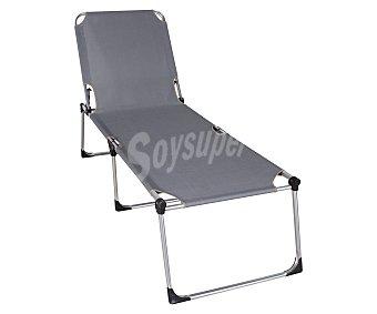 PROFILINE Cama plegable de 3 apoyos para camping y playa. Fabricada en aluminio, con acolchado en toda su superficie de textileno y medidas 216x70x44 centímetros 1 unidad