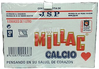 Millac Preparado lacteo calcio Brick pack 6 x 1 l - 6 l